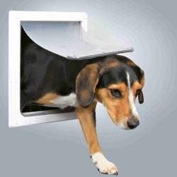 Drzwi wahadłowe dla psów s-m 19-32mm (białe)