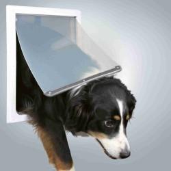 Drzwi wahadłowe dla psa m-xl 19-32mm (białe)
