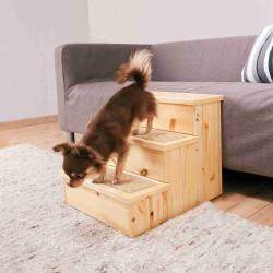 Schody drewniane dla psa, 40x38x45 cm