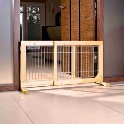 Barierka drewniana, 63-108x50x31 cm