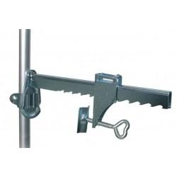 Zaciski do mocowania siatki na ścianach (do grub. 19,5 cm) ze słupkiem teleskopowym, 1-2m