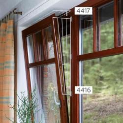 Kratka zabezpieczająca do okna biała skośna