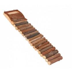 Drabina dla chomika z naturalnego drewna,18 szczebli, 7×27 cm