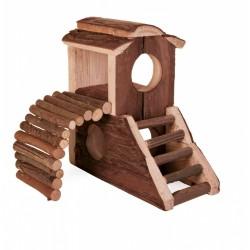 Domek dla gryzoni drewniany