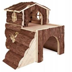 Domek dla gryzoni drewniany duży