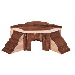 """Domek dla chomika  thordis"""", drewniany, 21×7×19/19 cm"""