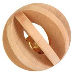 Piłka drewniana z dzwonkiem