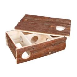 """Domek drewniany dla chomika """"leif"""", 35×11×25 cm"""