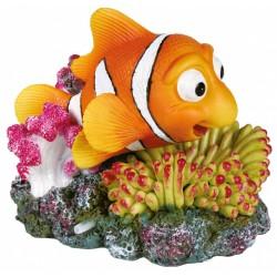 Dekoracja rybka błazenek na koralu 12x10cm