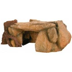 Dekoracja skała z drzewem 25x17x10c