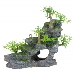 Dekoracja stopnie skalne z roślinno