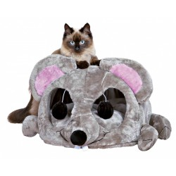 Legowisko dla kota z sizalem 35 × 33 × 65 cm, szare