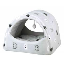 Domek pluszowy dla kota mimi, 42 × 35 × 35 cm, szary