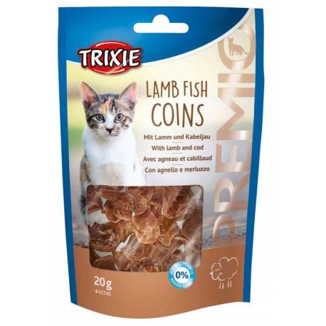 Przysmak premio lamb fish coins, jagnięcina i dorsz, 20 g