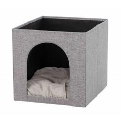 Legowisko na półkę ella, 33x33x37 cm, szare