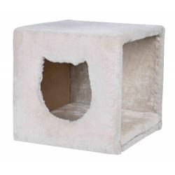 Domek dla kota cuddly, 37 x 33 x 33 cm, jasnoszary