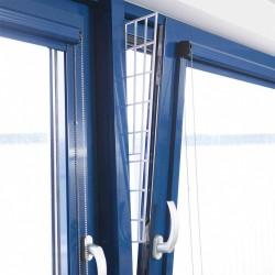 Krata zabezpieczajaca do okna, panel boczny, 62 × 16/7 cm, biały