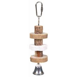 Zabawka dla gryzoni drewniana z dzwonkiem 16 cm