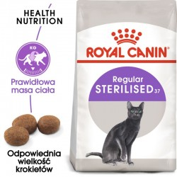 Royal Canin Adult Sterilised- dla kotów wykastrowanych ze skłonnością do nadwagi
