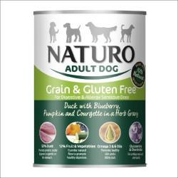Naturo pies 390g Grainfree Kaczka z jagodami dynią i cukinią sos