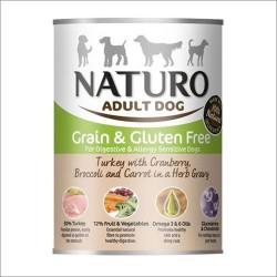 Naturo pies 390g Grainfree Indyk z żurawiną brokułami i marchwią sos