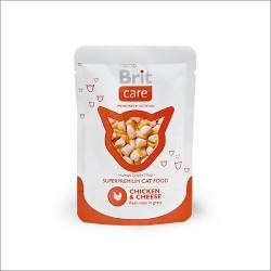 BRIT Care Cat 80g- Mokra karma kot Kurczak ser
