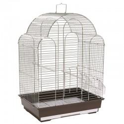 Vitapol Klatka dla ptaków, srebrno/brązowa