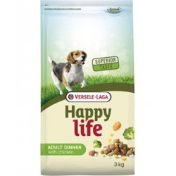 Versele laga Happy Life Dinner 15kg Karma sucha z kurczakiem