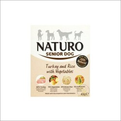 Naturo 400g SENIOR Indyk z ryżem i warzywami dla psa