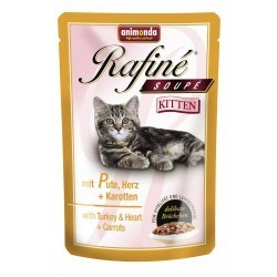Animonda Rafine Kitten - Indyk i serca z marchewką