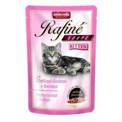 Animonda Rafine Kitten - Koktajl drobiowy z krewetkami