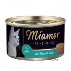 Miamor Feine Filets 100g tuńczyk z ryżem w galarecie